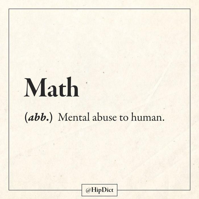 hilarious definitions math