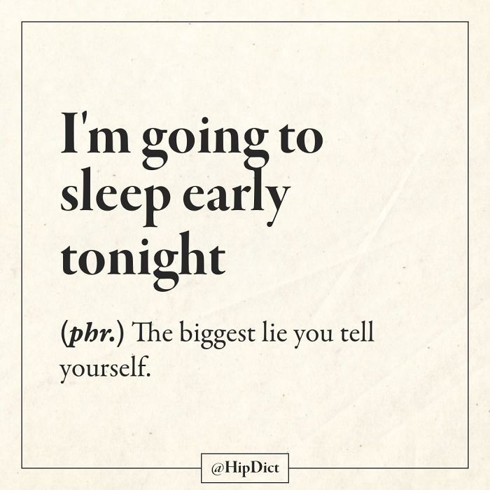 hipdict funny word meanings sleep early tonight