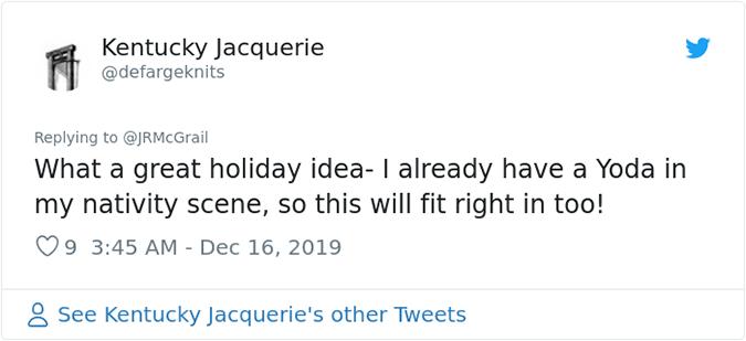 i already have a yoda in my nativity scene