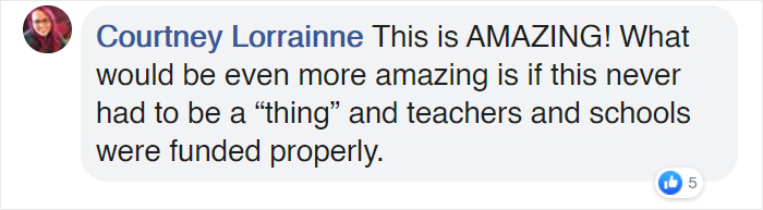 it would be more amazing if schools and teachers were funded properly