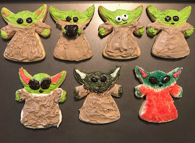 iteration of baby yoda cookie
