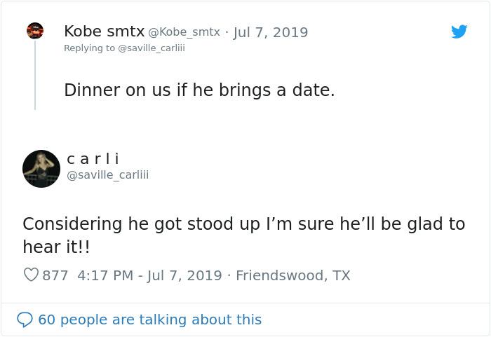 jeff saville date got stood up