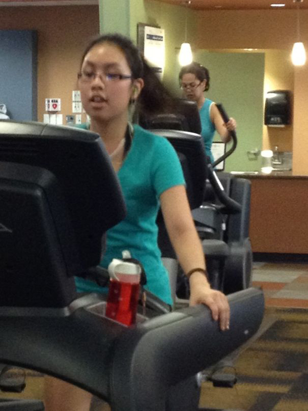 lookalikes working out at the gym