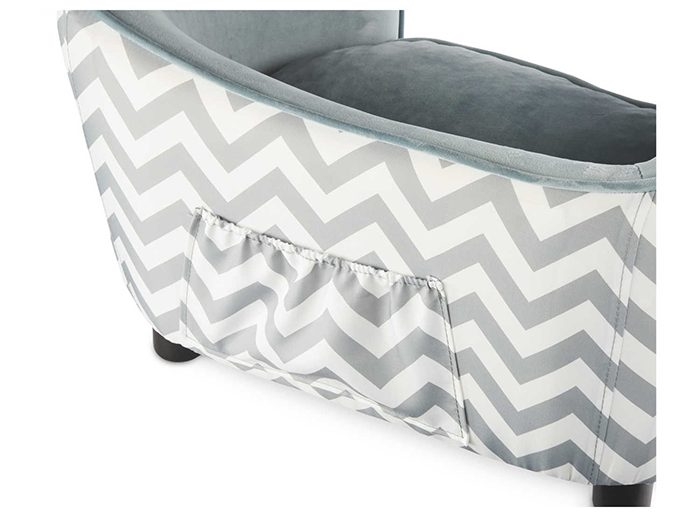 luxury sofa bed for dogs grey back pocket