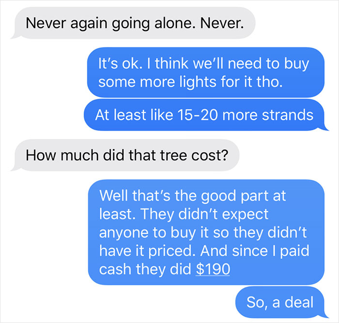 man photoshops christmas tree wife prank