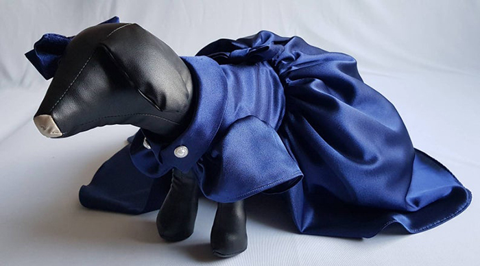 navy blue dog bridesmaid dress