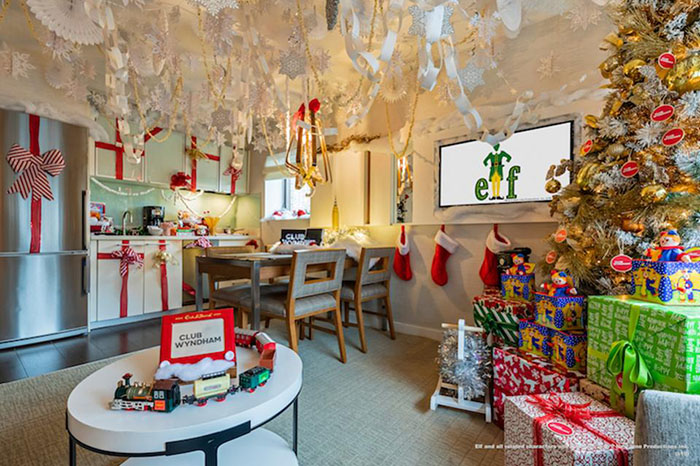 present ladden christmas tree at the winter wonderland suite