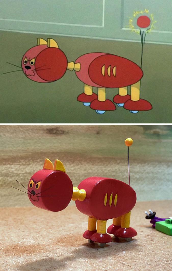 robot cat sculpture