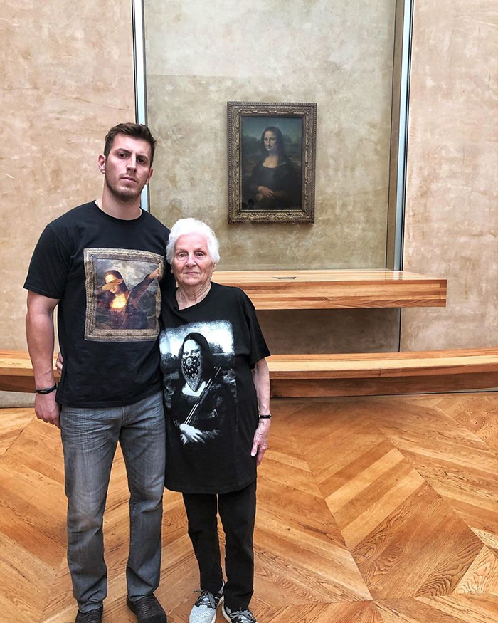 ross smith granny mona lisa