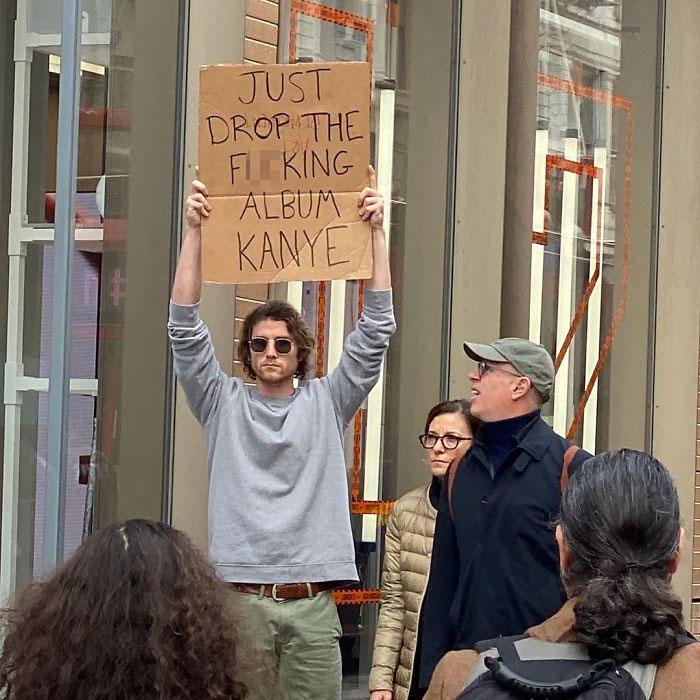 seth funny protester kanye album