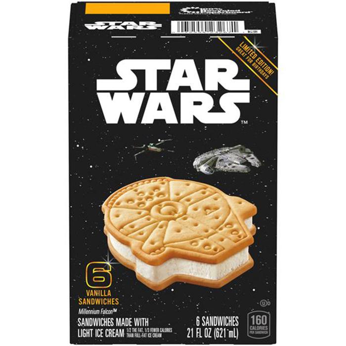 star wars millennium falcon ice cream sandwiches box