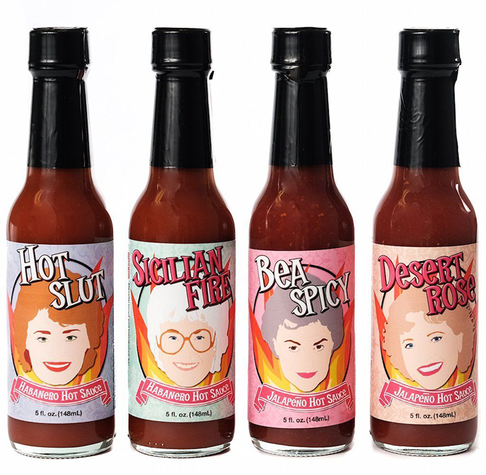 the 4 hot sauces inspired by the golden girls