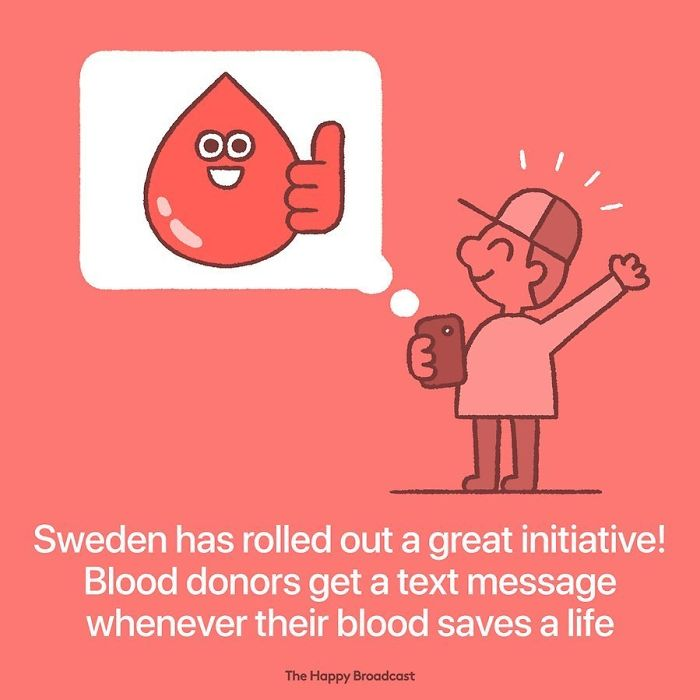 the happy broadcast sweden blood donors