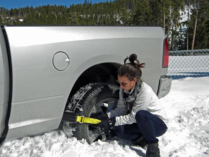 trac-grabber stuck in snow