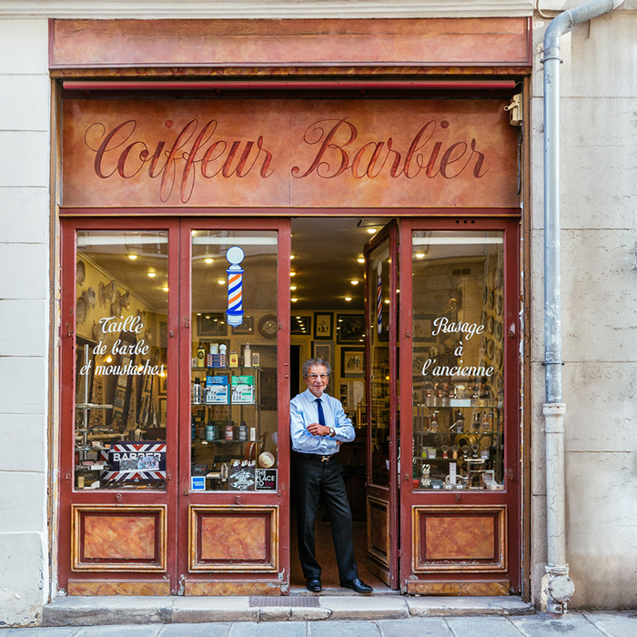 Alain at Coiffeur Barbier Storefront