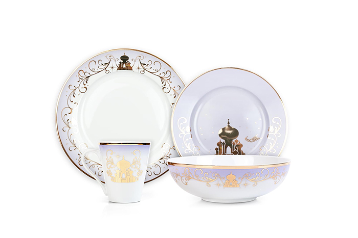 alladin-inspired dinnerware set