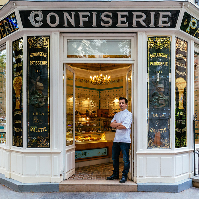 Boris Lumé at His Storefront