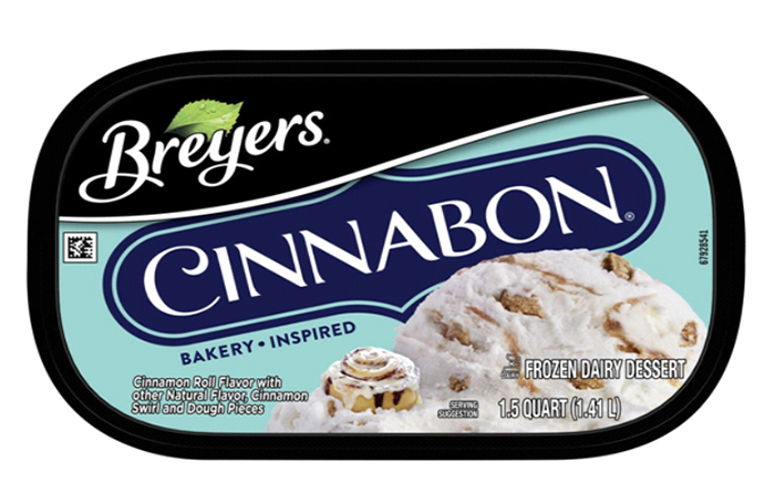 Breyers Cinnabon Ice Cream Lid Top