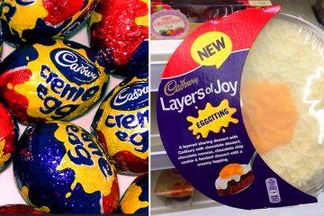 Cadbury's Creme Egg trifle
