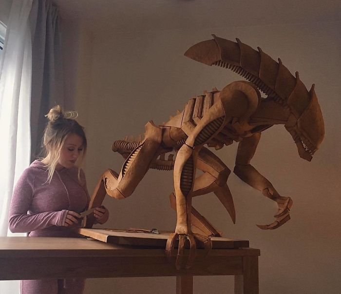 Caroline Eriksson and Her Xenomorph Gingerbread Sculpture