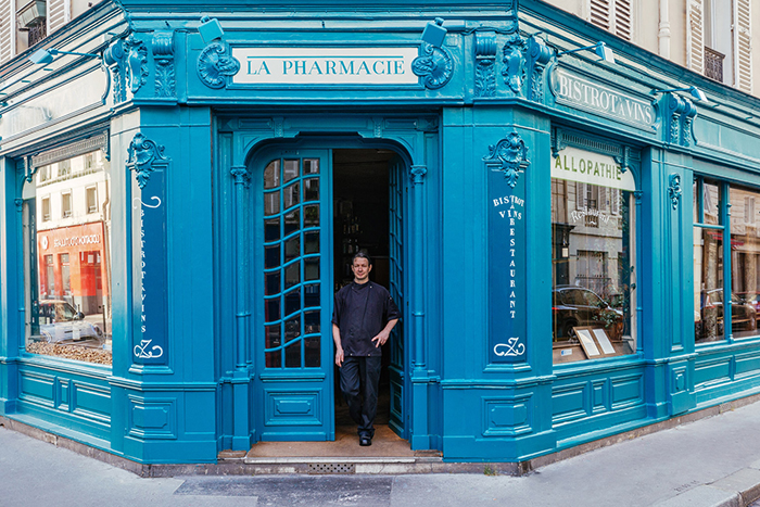 Chef Christophe Duparay at La Pharmacie Storefront