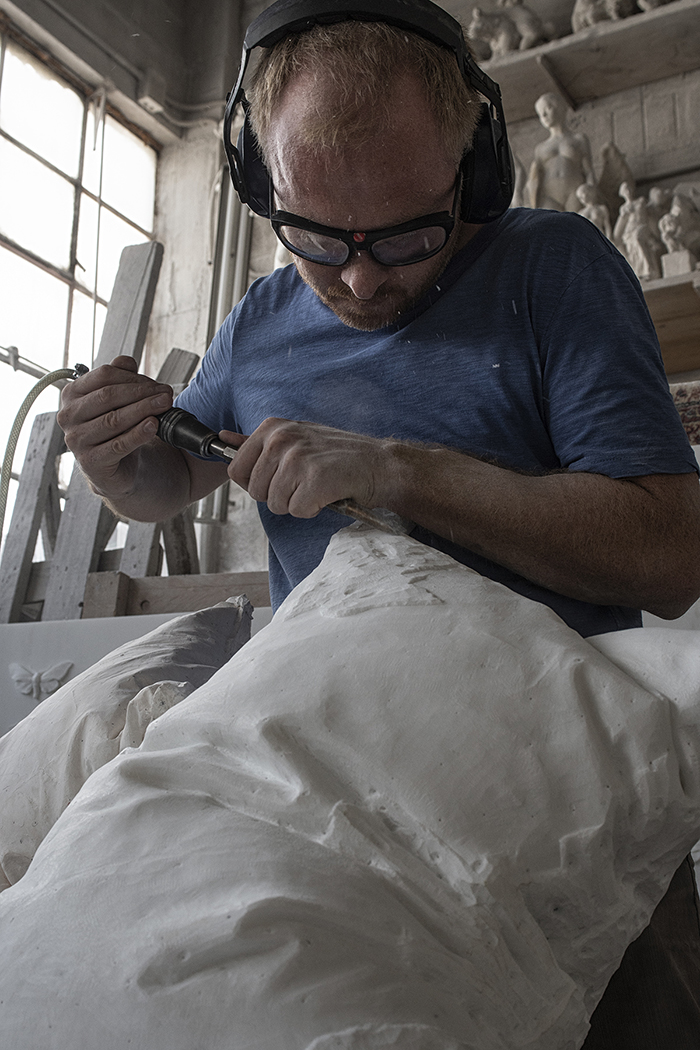 Contemporary Artist and Sculptor Hakon Anton Fageras at Work 3