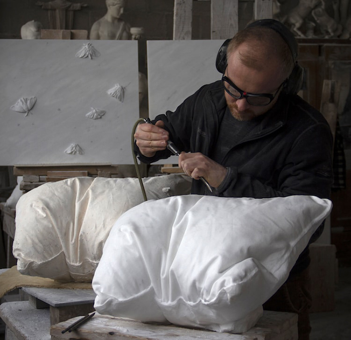 Contemporary Artist and Sculptor Hakon Anton Fageras at Work