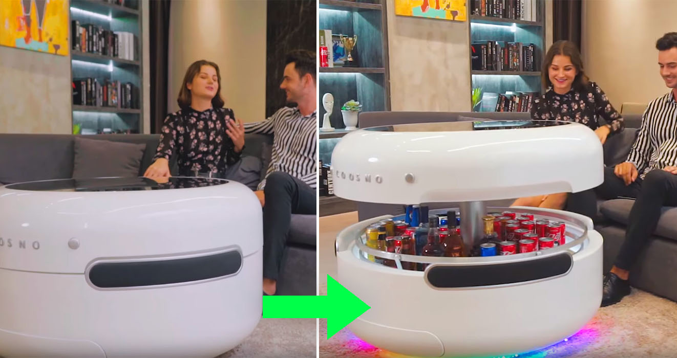 The 'Coosno' Is A Smart Coffee Table With A Built-In ...
