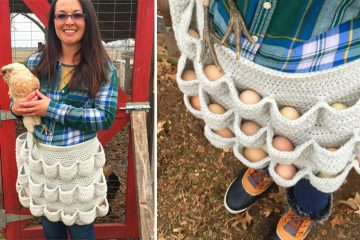 Crochet Egg apron