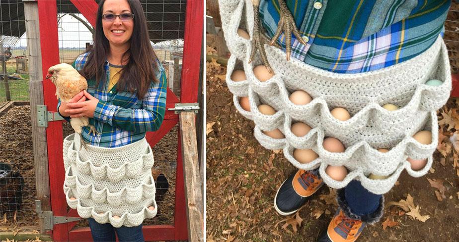 An eggcellent apron child size