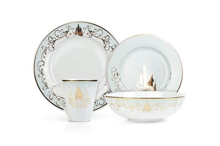 dinnerware inspired by the little mermaid