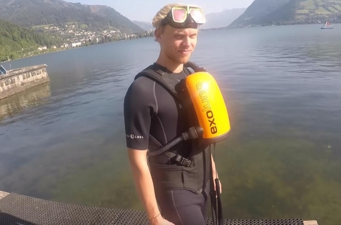 Diver Equipped with ExoLung