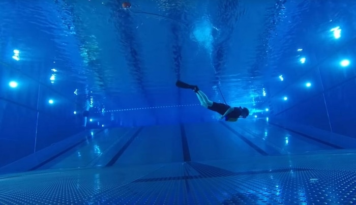 ExoLung Diving Test in a Pool
