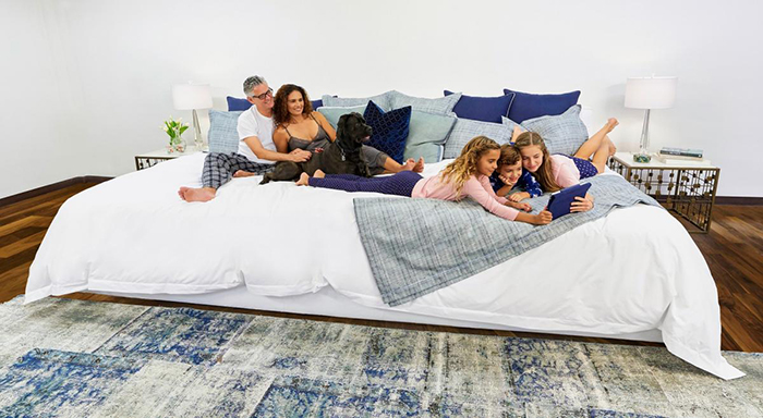 Family Enjoying a Quality Time on Ace Collection 12-foot Bed