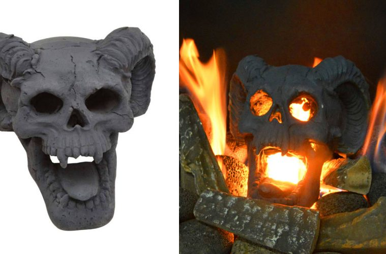 Fireplace Skull
