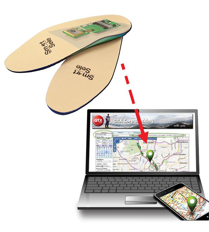 GPS Shoe insoles