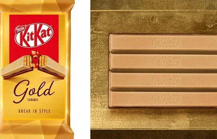Gold KitKat caramel