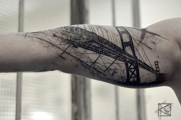Golden Gate Bridge Tattoo on Arm