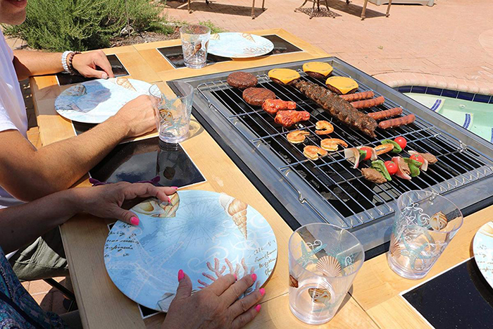 Grilling Burger Patties and Kebabs Using 3-in-1 Grill