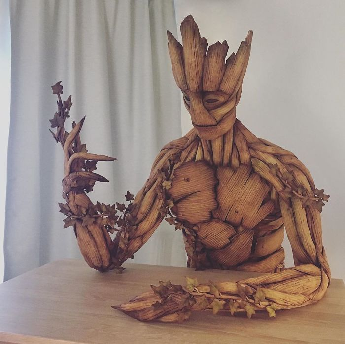 Groot Gingerbread Sculpture by Caroline Eriksson