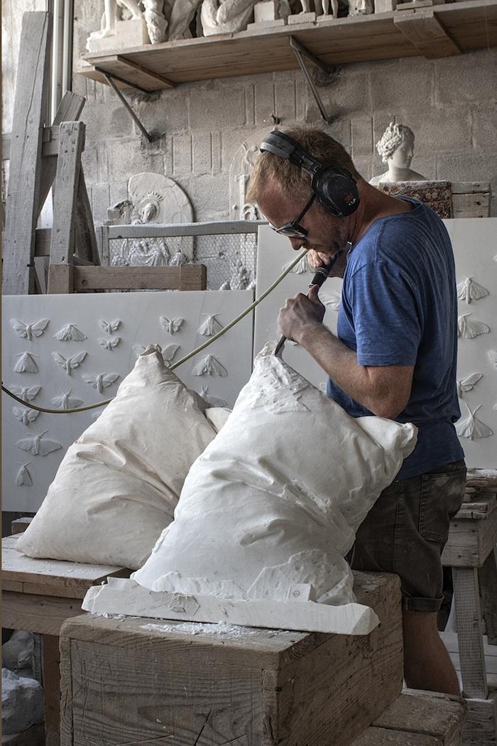 Hakon Anton Fageras Sculpting Marble Pillows 2