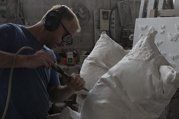 Hakon Anton Fageras Sculpting Marble Pillows 3