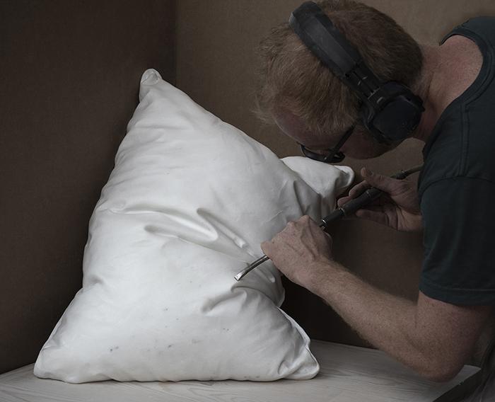 Hakon Anton Fageras Sculpting Marble Pillows