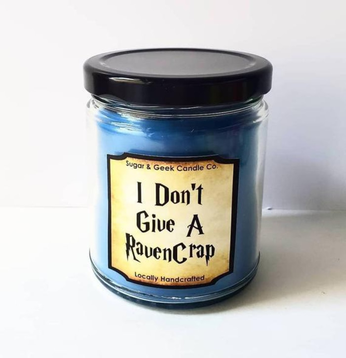 Harry Potter I Don't Give a RavenCrap Candle