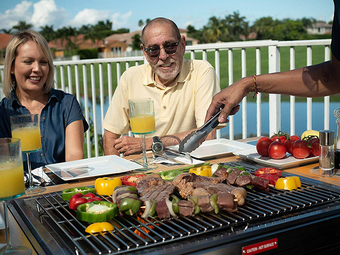 Outdoor 3-in-1 Grill for Grilling Steak