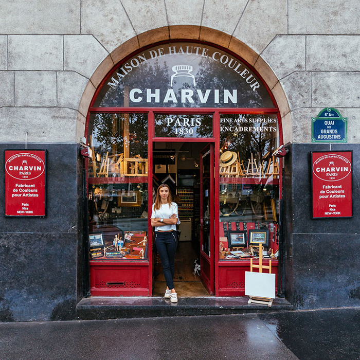 Julia Charvin at Charvin Storefront