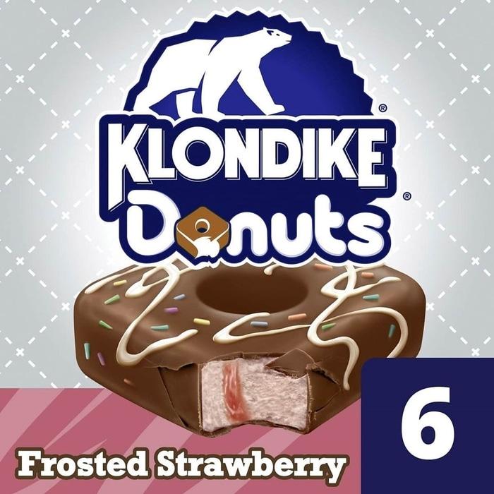 Klondike Donut Ice Cream Bar Frosted Strawberry Ad