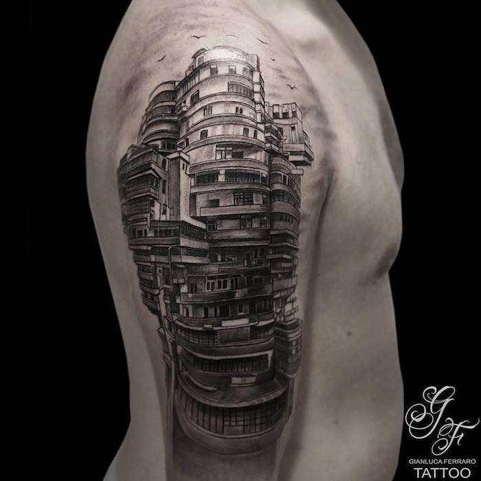 Kowloon Walled City Tattoo on Arm