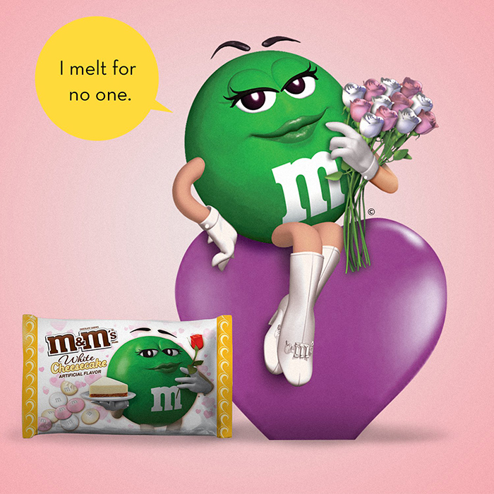 M&M's Valentine's Day Seasonal Flavor Ad I Melt for No One