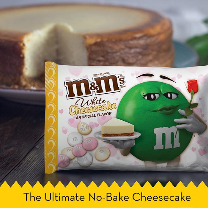 M&M's White Cheesecake Flavor Ad The Ultimate No-bake Cheesebake